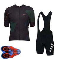 Maap Takım Bisiklet Bisiklet Kısa Kollu Jersey Önlüğü Şort Set 2021 Yaz Hızlı Kuru Erkek MTB Bisiklet Üniforma Yol Yarışı Kitleri Açık Sportwear S21043037