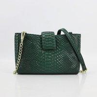 Evening Bags 2021 Fashion Designer Bag Women Shoulder Chain Embossed Python PU Leather Big Capacity Crossbody Lady Trendy