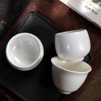Cups & Saucers Ceramic Ru Kiln Master Cup White Porcelain Ice Cracked Glaze Office Teacups Simple Household Water Mug Drinkware Tea