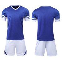 1656778SHION 11 فريق مجموعات الفانيلة فارغة، مخصص، تدريب كرة القدم ملابس قصيرة الأكمام الجري مع السراويل 022636758