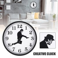 Home Wall Clock Decor Comedian Inspired Ministry Silent Mute Silly Walks British Comedy Walking Man Room Walls Clocks