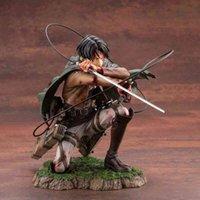 Конкуренты Ackerman Action Figures Anime Attack на Титан Фигурка Модель Игрушки 18 см Леви Фигурка PVC Коллекция Статуя A0511