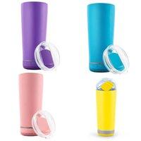 Macarrón Color Nuevo Bluetooth Inalámbrico Inalámbrico Música Portátil Deportes Botella de agua Acero inoxidable Doble vacío con cubierta diapositiva Slot de paja