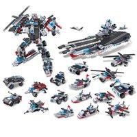2021 Blocchi Blocchi militari della nave da guerra militare Blocchi dell'esercito Blocks Compatibile con i mattoni per bambini Ragazzi Giocattolo LegoVys