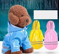 3 اللون مقنعين الكلاب pu انعكاس معاطف مقاومة للماء ماء كلب صغير يوركي الكلب المطر معطف المعطف جرو المطر سترة DWA6824
