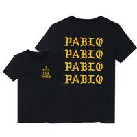 Негабаритный Kanye West Pababo T-рубашка Мужчины, я чувствую себя как Paul Print с короткими рукавами сезон 3 футболки хип-хоп рэпер тройник