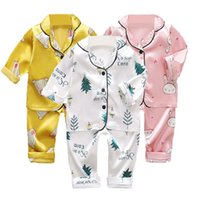 Girl Pajama Sets Baby Boy Clothes Toddle Unicorn Pijama Kids Clothing Bebe Long Top Pant Sleepwear Children's Pyjamas Nightgown 210915