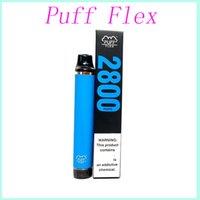공장 도매 가격 퍼프 플렉스 전자 담배 스타터 키트 2800 퍼프 일회용 vape 펜 1500mAh 배터리 10ml 사전 채워진 13colors 원래 증기