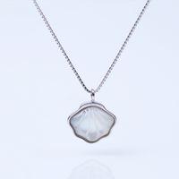 Halskettenstil Einfache Perlenschale Natural Clawicle Kette Sterling Mode