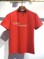DSQ мужские дизайнерские футболки черный белый мужчины летняя мода повседневная уличная футболка топы с коротким рукавом евро размер M-XXXL 6877