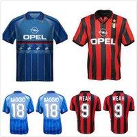 1995 1996 1997 Baggio Weah Boban Retro Soccer Jersey 95 96 97 Maldini di Canio Savicevic Barsi Vintage Chemise de football classique