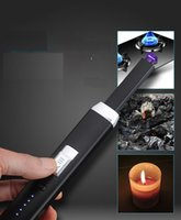 Electric Rechargeable USB Kitchen BBQ Long Igniter Windproof Pulse Arc Lighter For Candles and Fireworks BWF8935