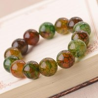 Bangle Natural Dragon Pattern Stone Bracelet Malachite Agate Buddha Bead Scale Imperial Men's And Women's Crystal