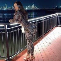 SHESTYLE OUBSUITS Frauen Schlangenhaut Printed Front Zip Bodycon Sexy Kostüm 2021 Neu gefunden Kleidung Dropshipping Herbst SpringFree Versand B