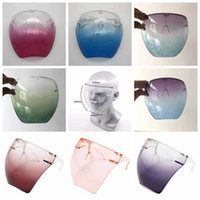 Plastic Safety Faceshield With Glasses Frame Transparent Full Face Cover Protective Mask Anti-fog Face Shield Clear Designer Masks DAP295