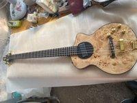 Rick Turner Model 1-C-LB Lindsey Buckingham Natural Bass Electric Bass Chitarra Top in acero reticolato, corpooro semibondo, rilegatura nera, collo laminato da 5 pezzi, hardware oro