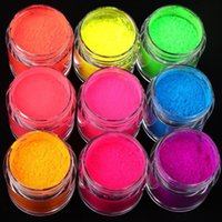 Nail Glitter 1 Box Fluorescent Sugar Powder Neon Phosphor Colorful Art Pigment Longest Lasting 3D Decorations