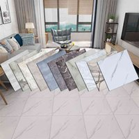 20PCS 30*30cm Modern Marble Tile Thick Self-Adhesive Wall Floor Stickers Ground Wallpapers Bathroom DIY Bedroom Home Decor 210910