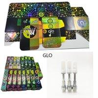 Glo Extracts Carts Ceramic Vape Cartridges 0.8ml 1 ml Atomizer Szklane zbiorniki 510 Gwint Atomizery Oil Puste Vapes Pen Vaporeizer Retail Reflective Box Packging