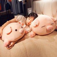 Hot Cartoon Pig Doll Cute Plush Toy Piggy Sleeping Hug Pillow Cushion for Girls Gift Decoration 39inch 100cm DY50992