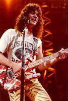 Eddie van Halen 5150 Guitarra eléctrica roja / blanca Black Stripe / Floyd Rose Temolo Bridge
