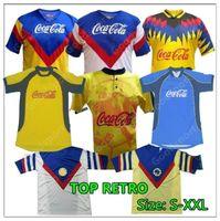 Retro Club America Soccer Jerseys Liga MX 0102 98 93 94 95 96 99 Football Shirts Mexico R.Sambueza P.Aguilar O.Peralta C.Dominguez Matheus