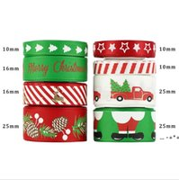 Holiday Christmas Grosgrain Ribbon Set para caja de regalo de Navidad Paquete de envolver para el pelo Arco Accesorio accesorio Haciendo elaboración DIY CRAFT 8 * 5YD CCF11138