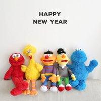Новейшие 32 см и 55 см Commentfake K A W S BFF SESAME Улица 5 Модели плюшевые игрушки ELMO / Big Bird / Ernie / Monster Фаршированные самые высокие качества Большие подарки