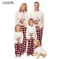 Family Matching Outfits Clothing Christmas Pajamas Set Xmas Adult Kids Cute Party Nightwear Pyjamas Cartoon Deer Sleepwear Suit 211018