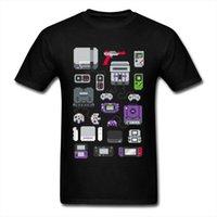Nuovo dispositivo di controllo del dispositivo di controllo di stampa T-shirt 100% cotone alto tees super pixel Image Youth College Student