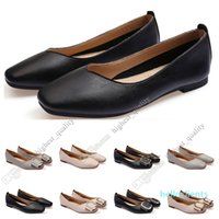 ladies flat shoe lager size 33-43 womens girl leather Nude black grey New arrivel Working wedding Party Dress shoes Twenty-nine