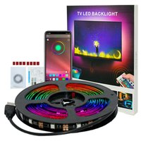 Remote Control smd 5050 RGB 5V usb strip full kit 2m 3m 4m 5m 30D M IP65 bluetooth led Colorful Sync to Music & Timer Flexible TV Background ambience Lighting