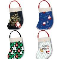 2021 Çocuklar Noel Çorap Noel Baba Çorap Çanta Moda Noel Ağacı Hediye Çantası Pandent Çocuk Sevimli Elk Harfleri Baskılı Parti Süslemeleri Oyuncaklar G89YV27