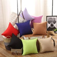 New Pillowcase Pure Color Polyester White Pillow Cover Cushion Cover Decor Pillow Case Blank Christmas Decor Gift dff0626