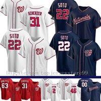 2021 Nationals 22 Juan Soto Jersey 37 Stephen Strasburg 31 Max Scherzer 7 Turne Turner 6 Anthony Rendon Sánchez Corbin Hudson Baseball Jersey