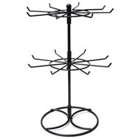 30cm High Lipstick Hook Hanging Rotating Rack Necklace Earrings Jewelry Headset Display Shelf Shop Store Show Holder Tool