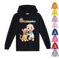 100-170 cm Cocomelon per bambini Fumetto con cappuccio T Shirt Pullover Felpe con cappuccio Super Bog JJ Stampa Boys Girls Big Bambini Sportswear Maglione Abbigliamento casual TopG90Epqy