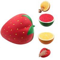 Новые гигантские фрукты Squishy медленно поднимаясь оранжевый арбуз клубника персик jumbo мягкие kawaii squishies decompression игрушки Q0423