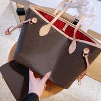 Große 32cm Brieftasche Klassische Dame Handtaschen 2 Farben Gitter 2 stücke Set Geldbörse Kapazität Luxur Designer Frauen Umhängetaschen Lady Clutch Retro Rucksack Stil