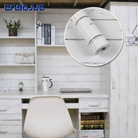 Wallpapers 0.45x10M College Dormitory Wood Wall Stickers Cabinet Table Furniture Sticker Bedroom Kitchen Waterproof Self Adhesive Wallpaper