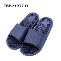 Shoes ISSACOCO 's Flat Indoor Massage Slippers Men Home Non-slip Massage Slippers Zapatos Hombre Beach Flip Flops Men's Slides