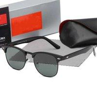 طيار نظارات للرجال مصمم جودة فاخرة جودة أزياء تصميم الكلاسيكية تصميم العلامة التجارية خمر الطيار نظارات الشمس الاستقطاب uv400 عدسة الزجاج 3016