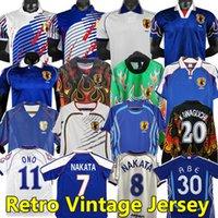 Nakata Japan Retro Soccer Jerseys Vintage 1994 1998 99 2000 2006 Soma Akita Okano Kawaguchi 2002 Chemise de football classique Kazu Hattori