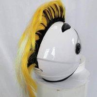 Мотоциклетные шлемы DIY Ski Мягкие велосипедные палочки волос синтетический цветной шлем мохавк парик спортивные аксессуары стильные запасные части