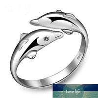 Fashion Double Dolphin Silver color Ring Fashion Opening Ring for Women Factory price expert design Quality Latest Style Original Status