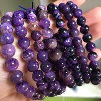 Natürliche Charoite Perlen Armband Stein DIY Schmuck Für Frau Geschenk Großhandel! Perlen, Stränge