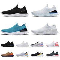 NikeEpicReactFlyknit1FlyKnit2 Top Alta Qualidade Fly Knit Sapatilhas Esportes Running Shoes para Mulher Mens Royal Green Triple Branco A luz de prata os mulheres dos homens