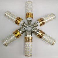 المصابيح E14 E27 16 واط أدى ضوء الذرة المصباح SMD2835LED 110 فولت 220 فولت 3 لون الحرارة المتكاملة شمعة أضواء 5pcs / lot