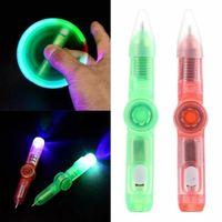 LED Fidget Brinquedos Spinner Light Spinning Pen Fingertip Gyro Estudantes Criativos Decompression Toy para Kids Atacado