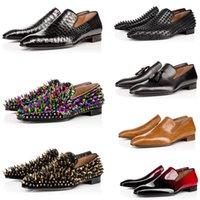 2021 Luxus rote Unterseite Männer Kleid Schuhe Party Hochzeit Slip auf Müßiggänger Für Mann Löwenzahn Quaste Sneaker Freizeit Flat Oxford Schuh